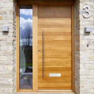 Pintu Kusen Kayu Minimalis Natural
